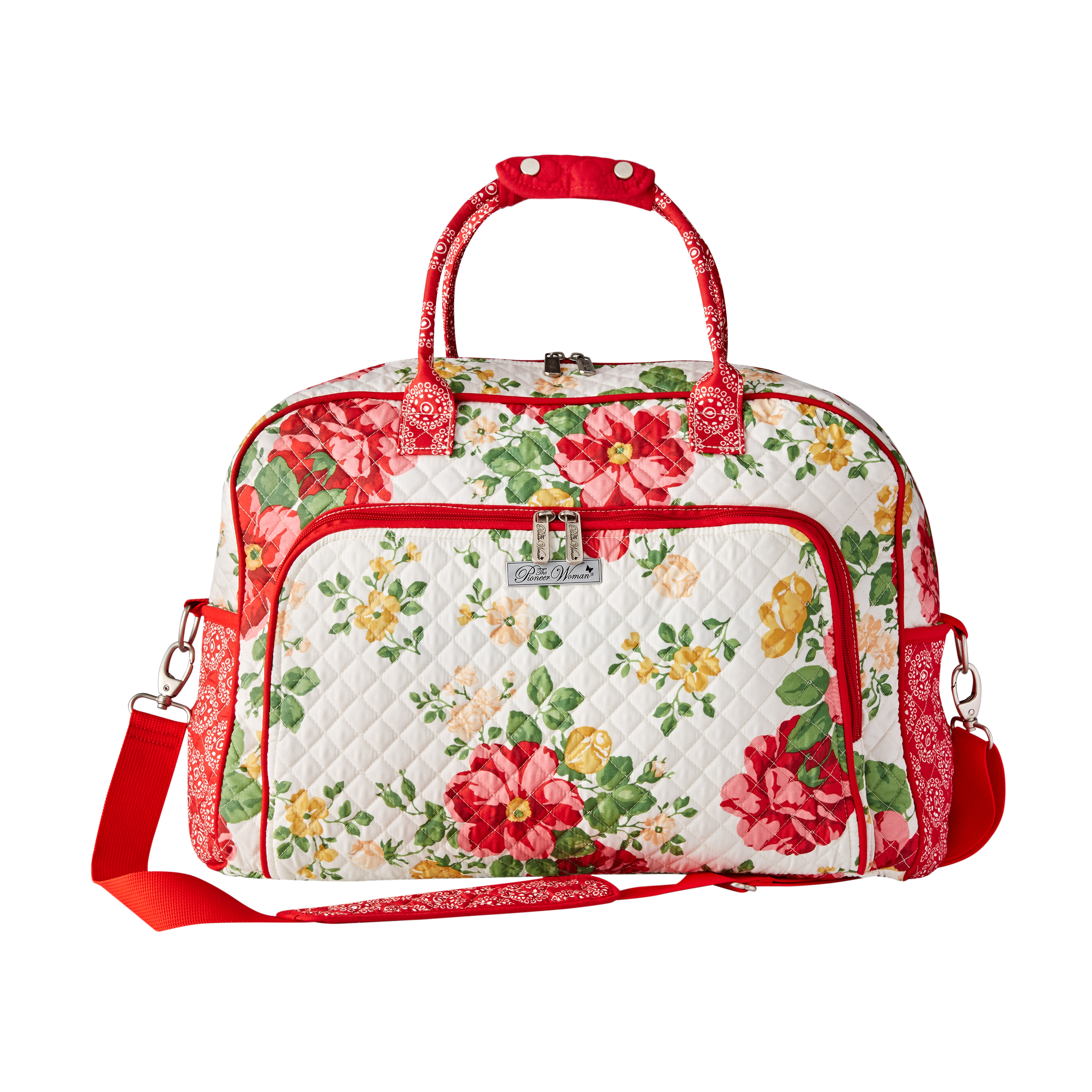 Personalized Sea Shell Print Overnight Quilted Bag-Gym bag,