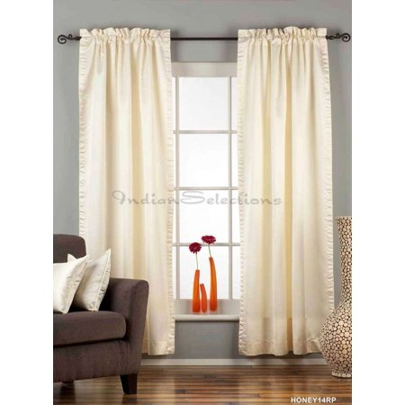 Cleveland Indians Window - Cream Rod Pocket 90% blackout Curtain / Drape / Panel  - Piece