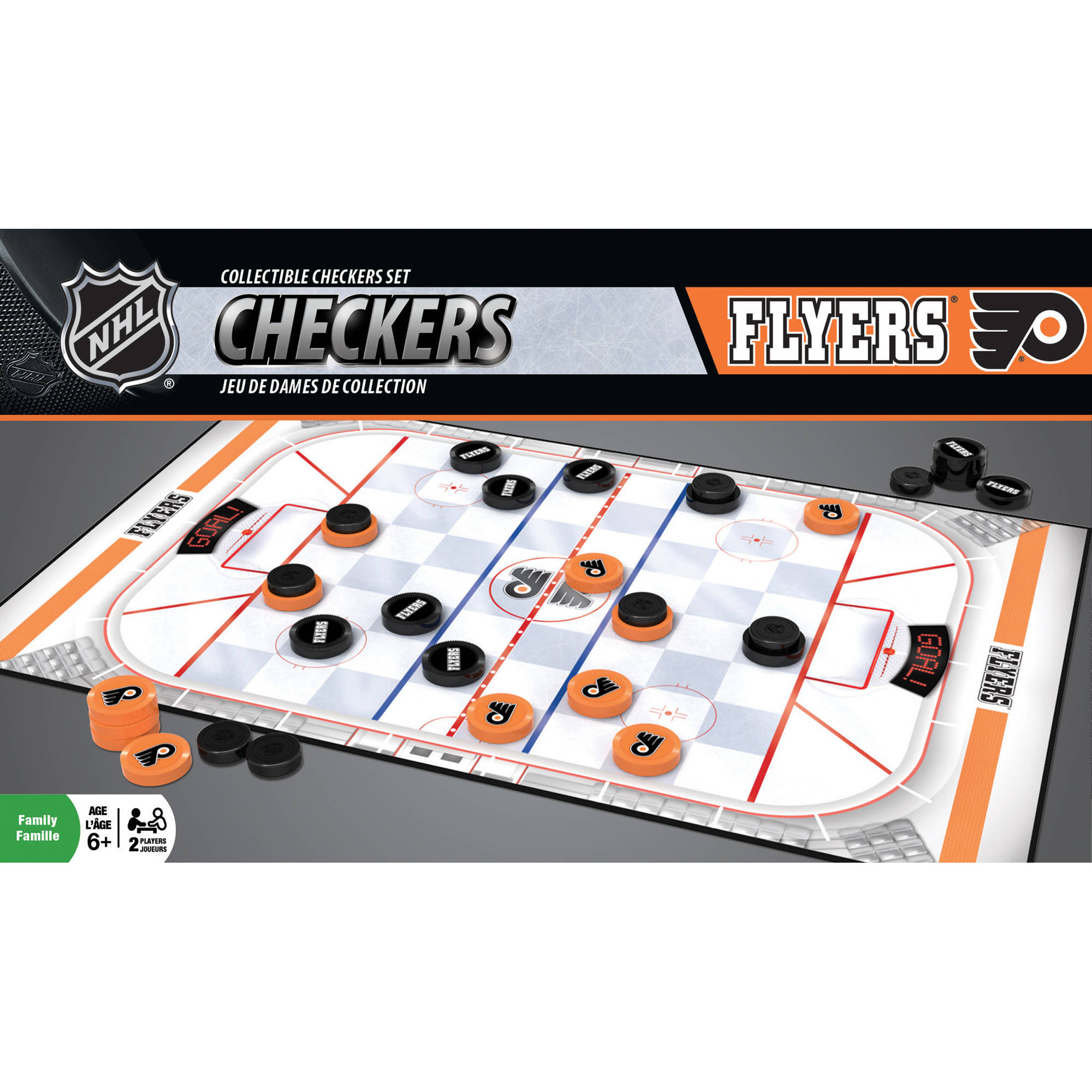 MasterPieces NHL Philadelphia Flyers Checkers Game