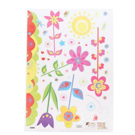 Accueil chambre fleurs motif libellule murale pvc for Decoration murale walmart