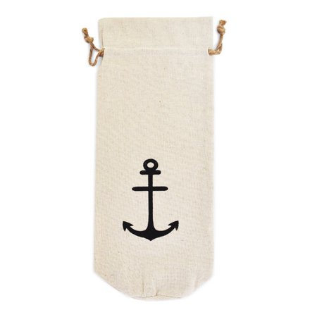 Jetty Home Nautical Anchor Wine Bottle Gift Bag