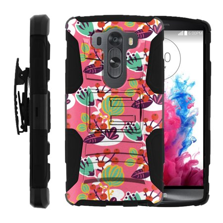 LG V10 and LG G4 PRO Miniturtle® Clip Armor Dual Layer Case Rugged Exterior with Built in Kickstand + Holster - Lovely