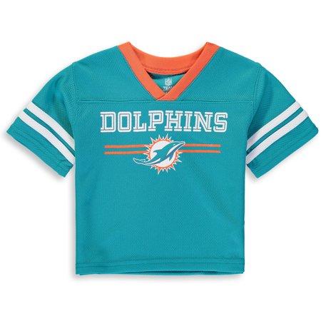 - Newborn & Infant Aqua Miami Dolphins Mesh Jersey T-Shirt