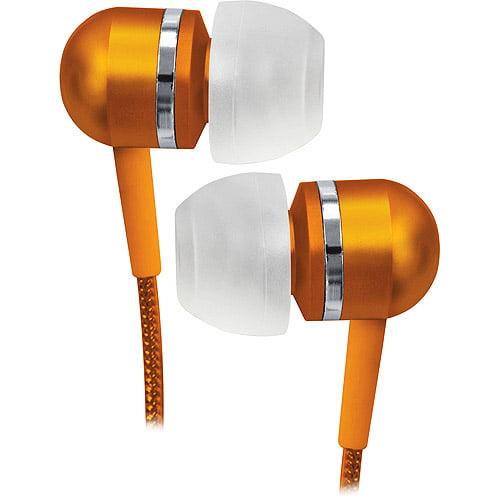 Coby Orange High-Performance Isolation Stereo Earphones, CVEM79ORG