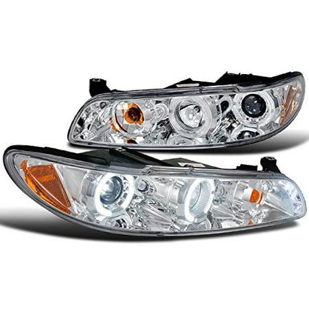 Spec-D Tuning 2LCLHP-GPX97-TM Pontiac Grand Prix Dual Halo Led Chrome Projector Headlights Corner (Pontiac Grand Prix Corner Light)