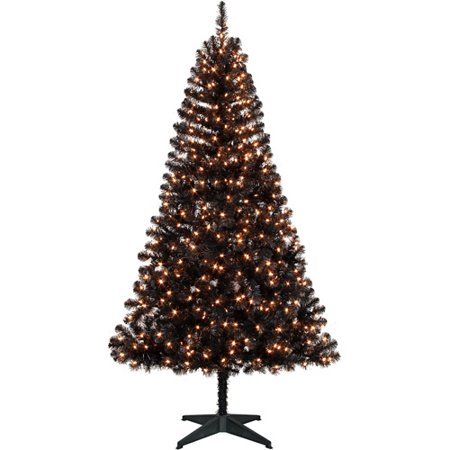 holiday time 65ft madison pine black tree clear - Walmart Black Christmas Tree
