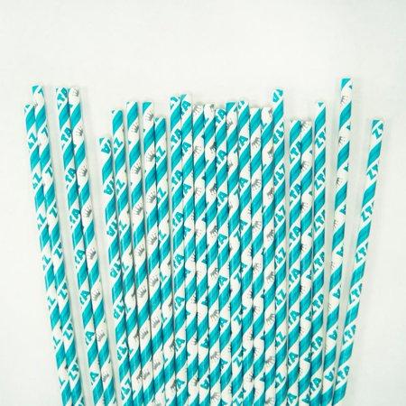 Zeta Tau Alpha Paper Straws -