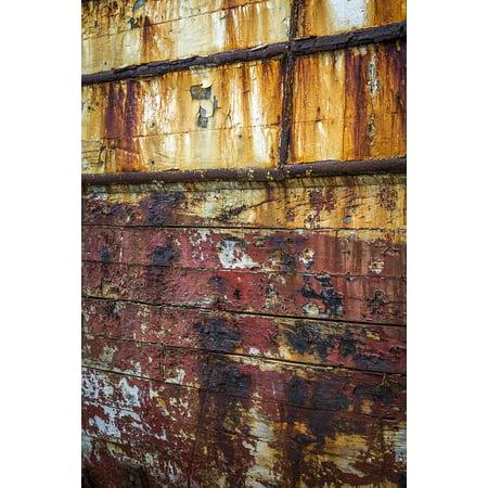 Canvas Print Texture Boat Hull Rust Peeling Paint Texture Rust Stretched Canvas 10 x (Best Paint For Aluminum Boat Hull)