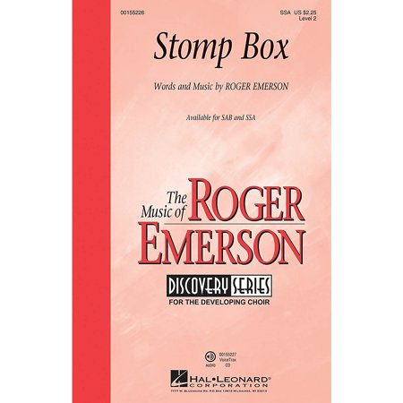 Hal Leonard Stomp Box (Discovery Level 2) SSA composed by Roger Emerson