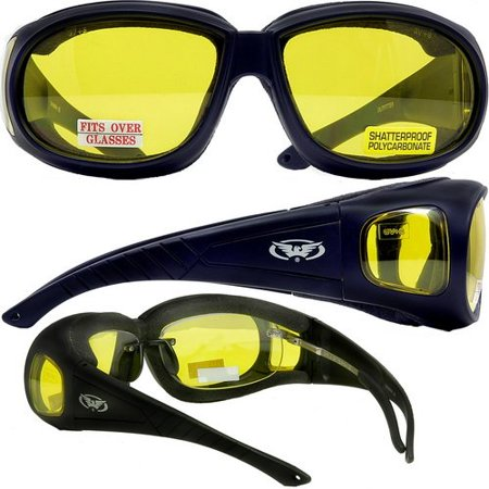 Outfitter Foam Padded Fits Over Most Prescription Eyewear Yellow Lenses Meets ANSI Z87.1-2003 Standards For Safety - Prescription Contact Lens Halloween