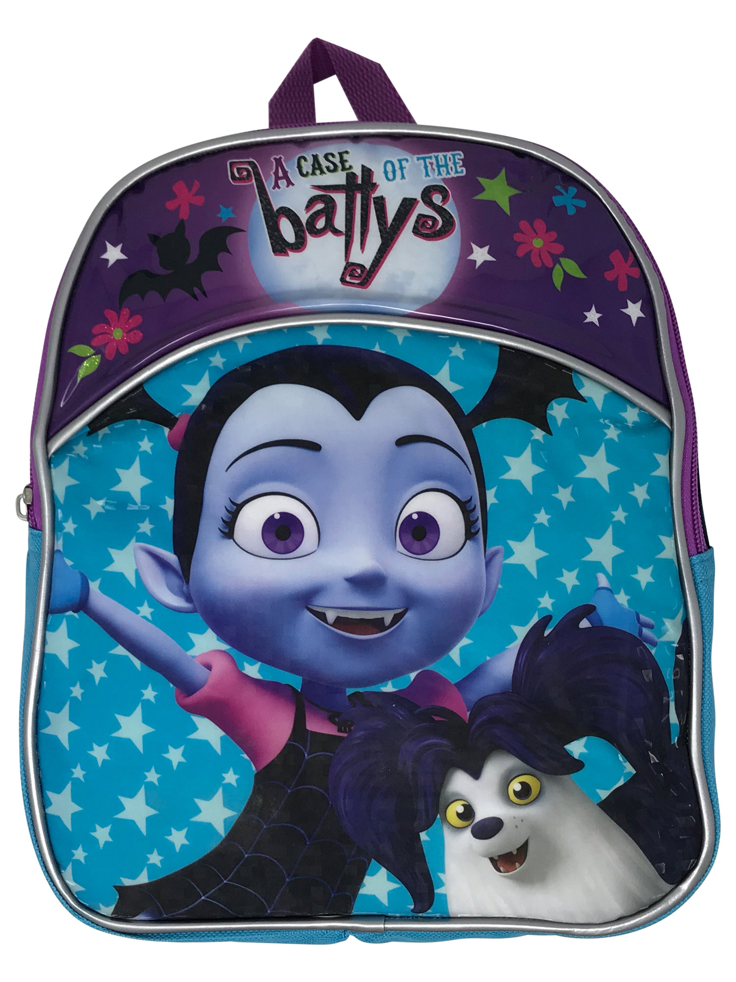 "Girls Vampirina Wolfie Mini 11"" Backpack Toddler Blue Purple"