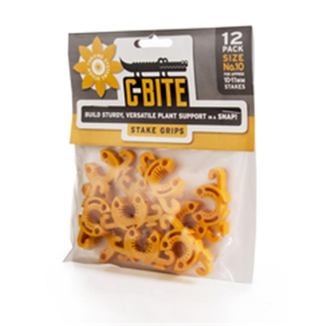 C-Bite CG10 No. 10 Small Plant Anchor & Stake Coupling Gardening Hardware, Yellow - Pack of 12