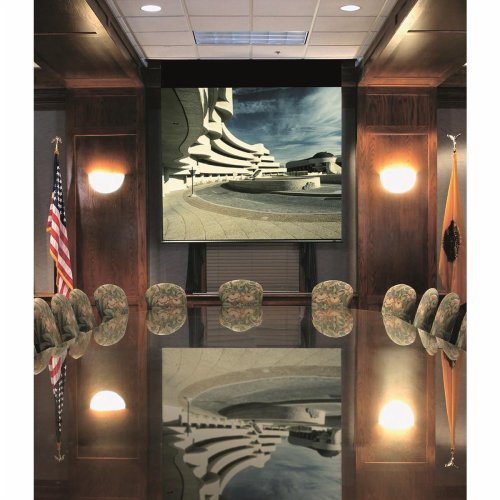 """Envoy Matte White Electric Projection Screen Viewing Area: 72"""" H x 96"""" W"""