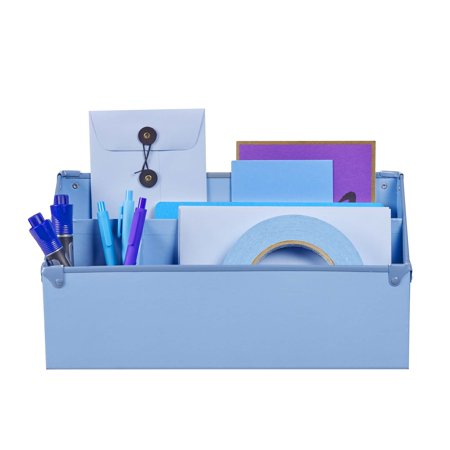 Design Ideas Frisco Paperboard Desk Organizer, Periwinkle - Desk Ideas