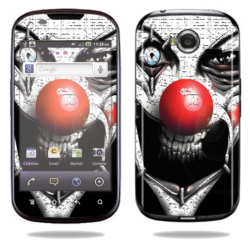 Mightyskins Protective Vinyl Skin Decal Cover for Pantech Burst P9070 Cell Phone At&t wrap sticker skins Evil Clown