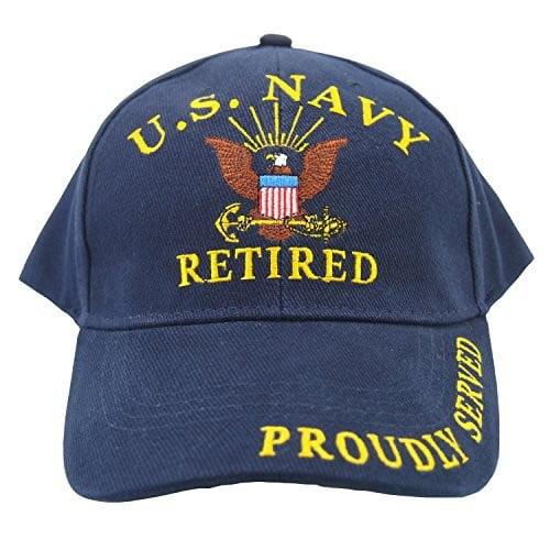 Eagle Emblems Men's U.S. Navy Retired Hat []
