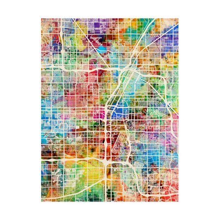 Las Vegas City Street Map Print Wall Art By Michael (Street Wall Map Port)