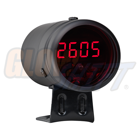 - GlowShift Black Digital Tachometer & Red Shift Light
