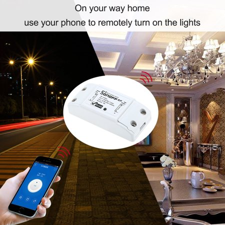 RF Wifi Switch RF 433MHz Compatible with for Home 10A/2200W Wireless Switch with Timing Function Remote Controller for Android/IOS APP Control for Electric Appliances Universal Smart Home Automati - image 4 de 7