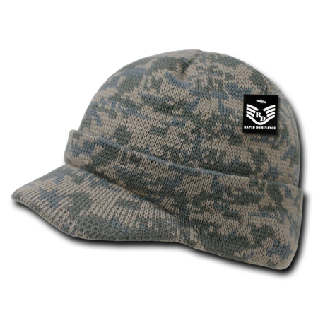 Rapid Dominance Universal Digital (ACU) - Military Camouflage Camo GI Jeep Beanies Beany For Men Women with Visor Knit Watch Caps Hats RapDom ()