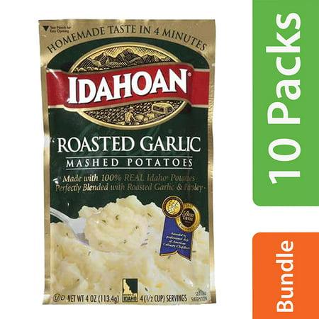 (10 Pack) Idahoan: Roasted Garlic Mashed Potatoes, 4 - Roasted Purple Potatoes