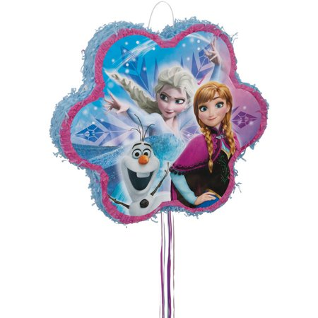 Disney Frozen Pinata, Pull String, 18 x 18, 1ct - Winter Wonderland Pinata