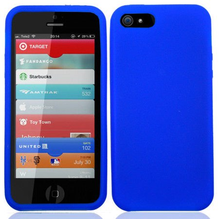 new product 70491 1c35d Silicone Skin Case Cover for Apple iPhone 5 / 5S iPhone SE - Blue