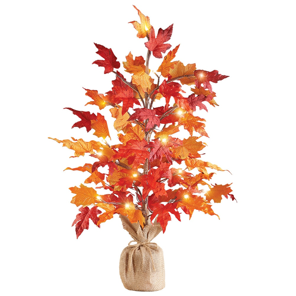 "Colorful Fall Harvest Lighted Tabletop Tree , 29"" H"