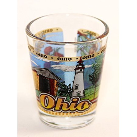 Ohio State Wraparound Shot Glass