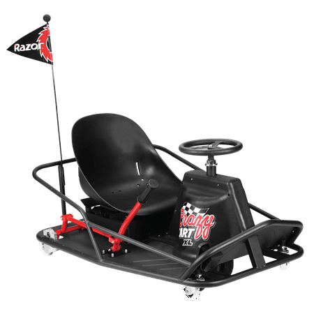 Razor 36 Volt Electric-Powered Drifting Crazy Cart XL for Ages 16+ and Speeds up to 14 MPH](crazy cart cheapest price)