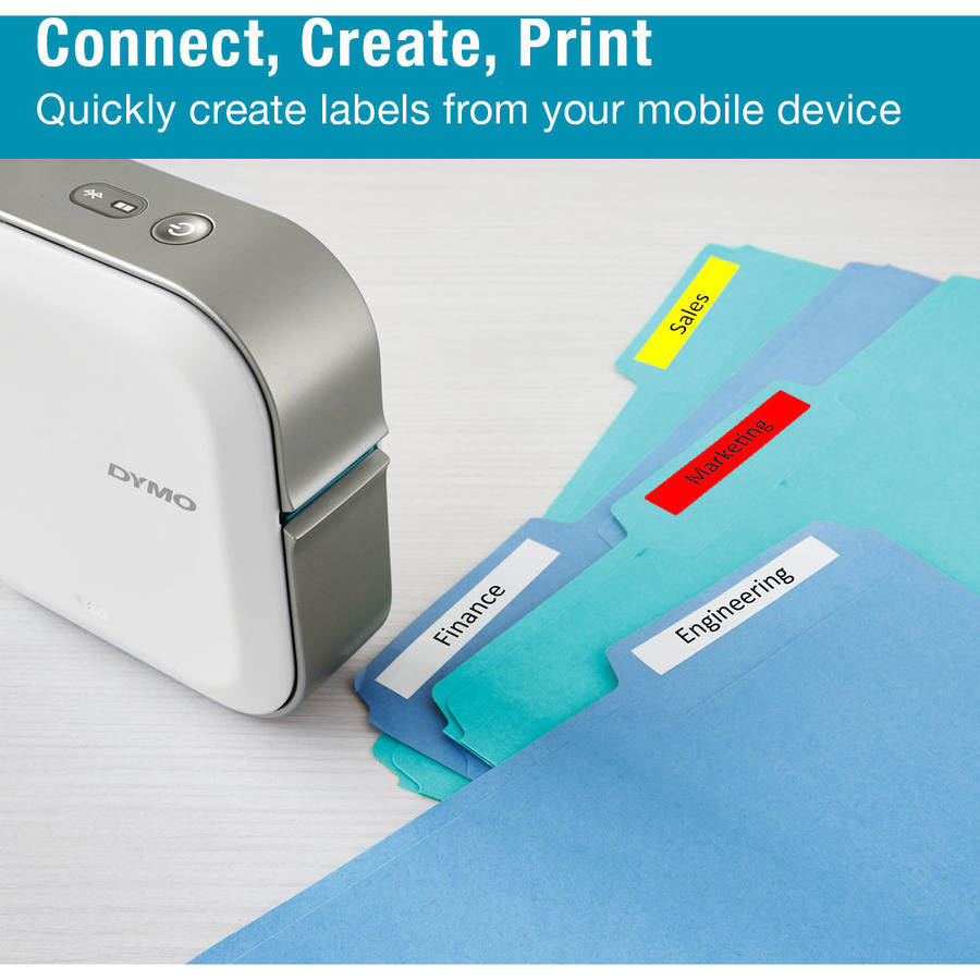"DYMO MobileLabeler Bluetooth Label Maker, 4 Lines, 8-3/10"" x 4-4/5"" x 8-1/10"""
