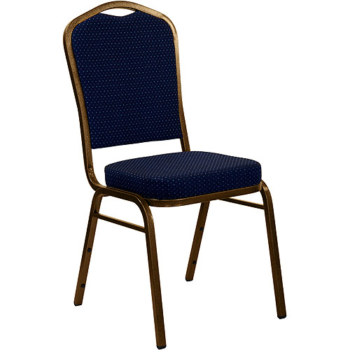 4 Pack - Crown Back Stacking Banquet Chair With Gold Vein Frame