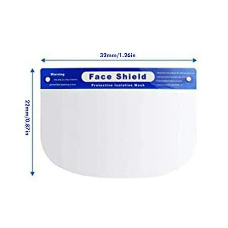 Isolation Screen Protective Mask Compression Volume Anti-Spray Face Shield - image 1 de 5