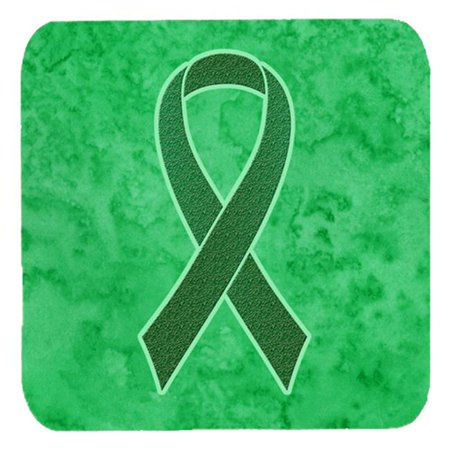 Carolines Treasures AN1220FC 3.5 x 3.5 In. Kelly Green Ribbon for Kidney Cancer Awareness Foam Coasters, Set of 4 - image 1 de 1