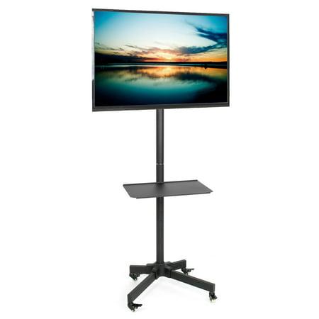 Vivo Mobile Tv Cart For Lcd Led Plasma Flat Panel Trolley Floor Stand W Wheels