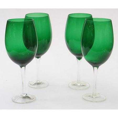 Green Wine Glasses (Certified International  Green 20-oz Wine Glasses (Set of)