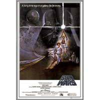 """Star Wars: Episode IV - A New Hope - Framed Movie Poster / Print (Regular Style A) (Size: 24"""" x 36"""")"""