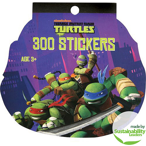 Teenage Mutant Ninja Turtles Cartoon Sticker Book (8 sheets)