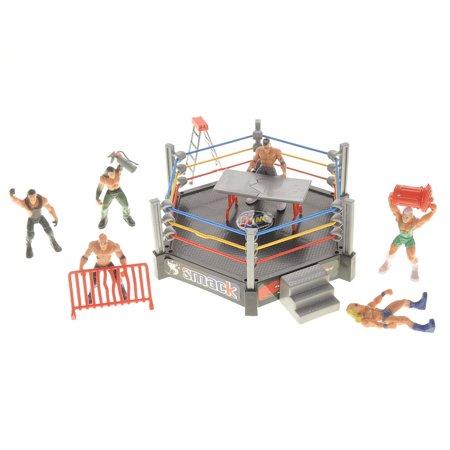 Wrestling Toy Figure Play Set w/ Ring](Wrestling Masks For Sale)