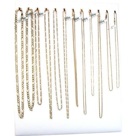 12 Hook White Chain Necklace Display Jewelry Easel (Jewelry Display Case Necklace)