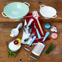 18-Piece The Pioneer Woman Spring & Frontier Complete Cooking Set (Teal)