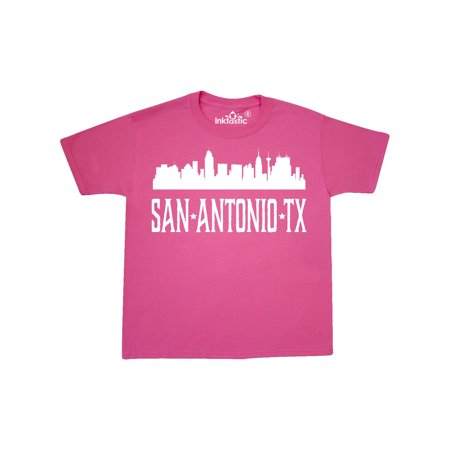San Antonio Texas TX Skyline City Youth T-Shirt (Halloween Store San Antonio Tx)