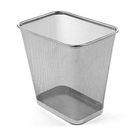 Design Ideas Waste Bin Mini Metal Mesh, Silver