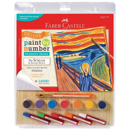 The Scream Deluxe Musuem Series Paint by Number Craft Kit Creativity For Kids Deluxe Acrylic Art Kit