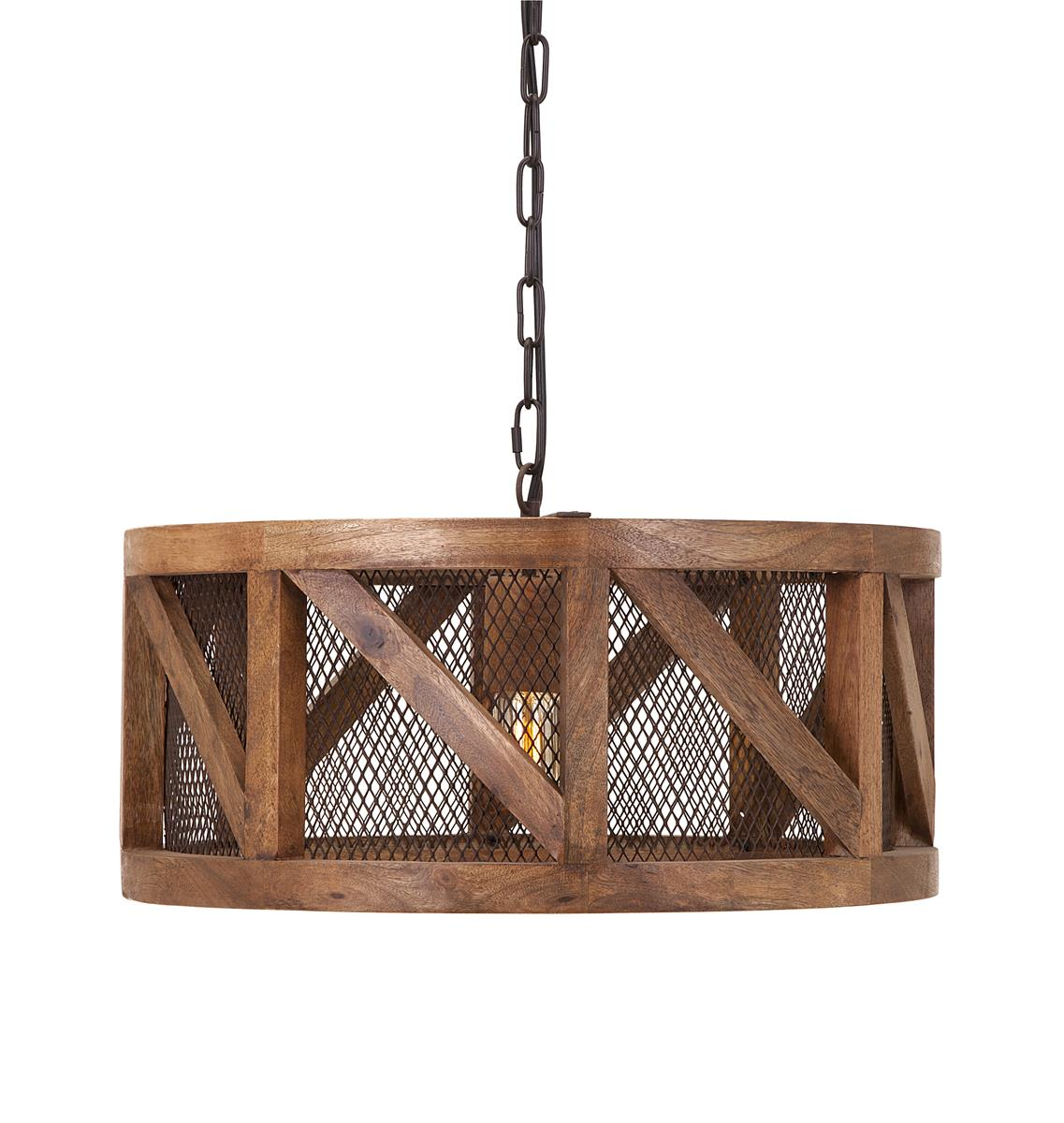 Picture of: Kennedy Wood And Wire Pendant Light Walmart Com Walmart Com