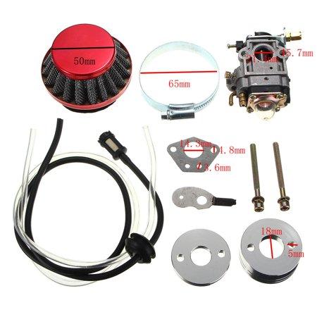 Carburetor Air Filter Fuel Line Kit For Pocket Bike Scooter ATV Moto 43cc 49cc - image 1 de 12