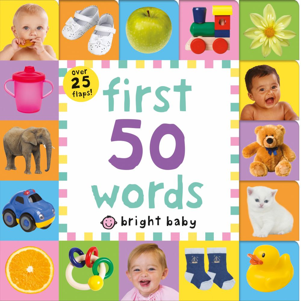 Lift-The-Flap Tab: First 50 Words (Board Book)