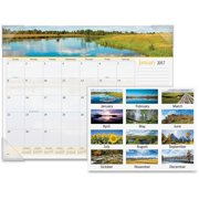 AT-A-GLANCE Visual Organizer Recycled Landscape PanoramicDesk Pad, 22 x 17 89802-10