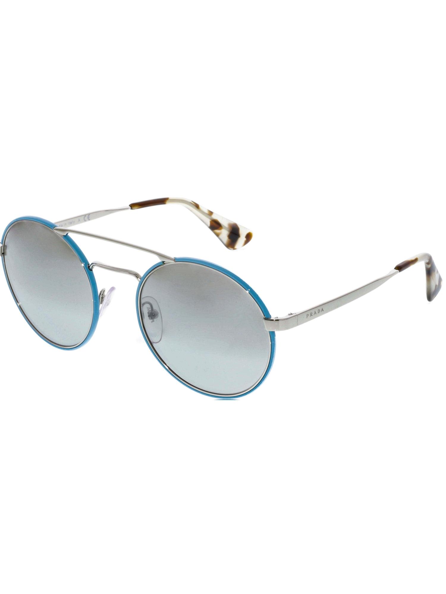 f0672625469 Prada Women s Mirrored PR51SS-VHT1A0-54 Blue Round Sunglasses