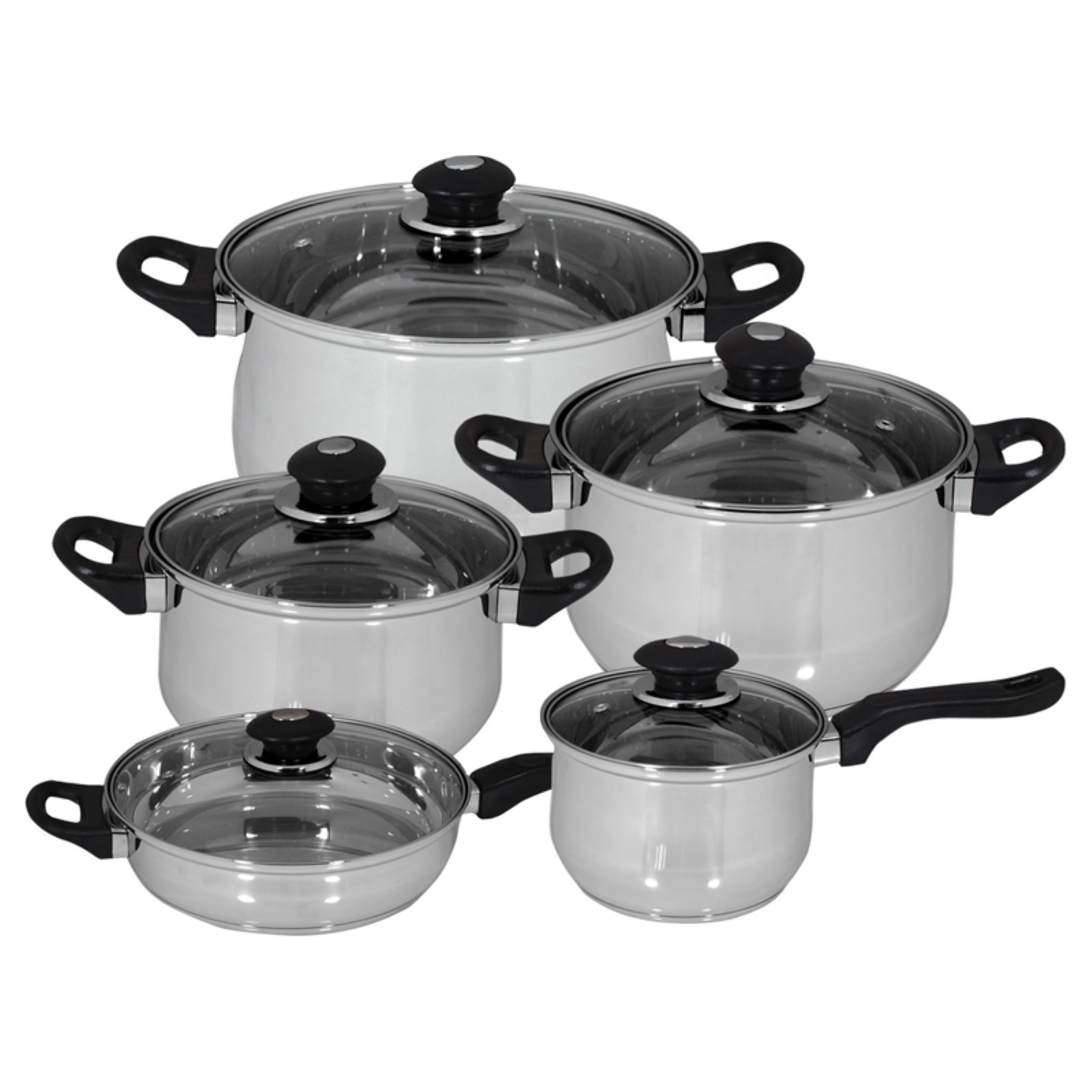 Magefesa Family 10 Piece Stainless Steel Cookware Set